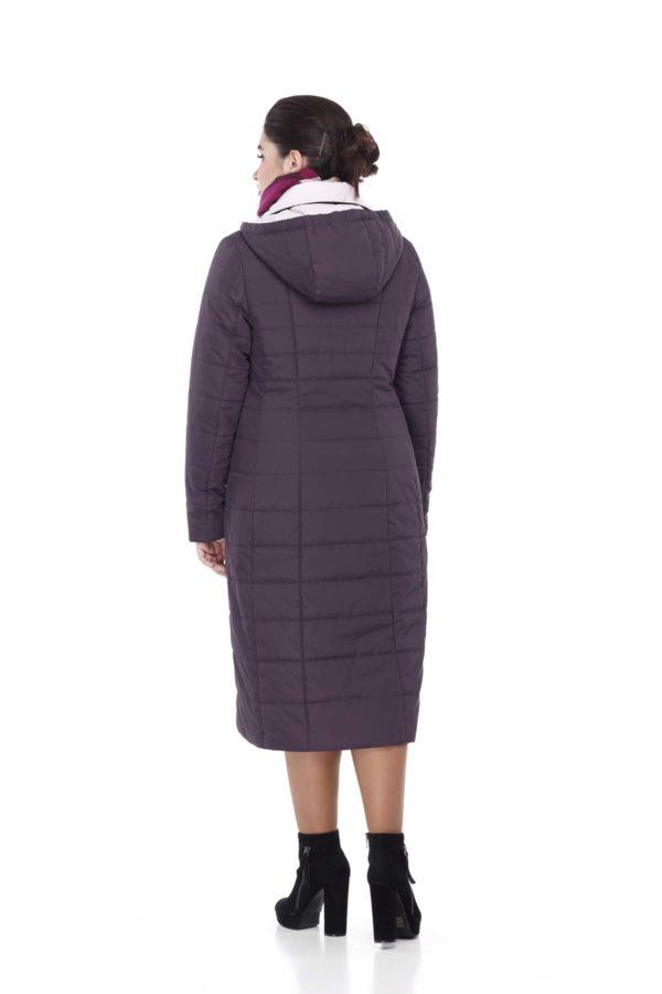Пальто стеганое Венера, амарантовый