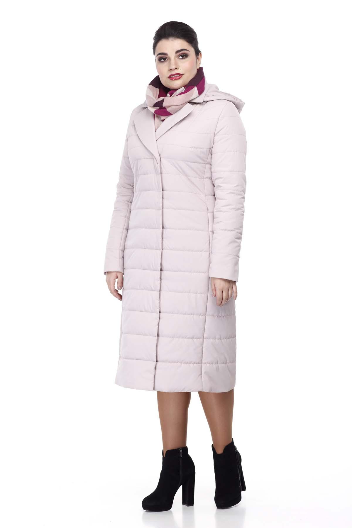 Пальто стеганое Венера, пудра