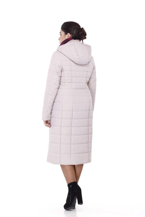 Пальто стьогане Венера, пудра