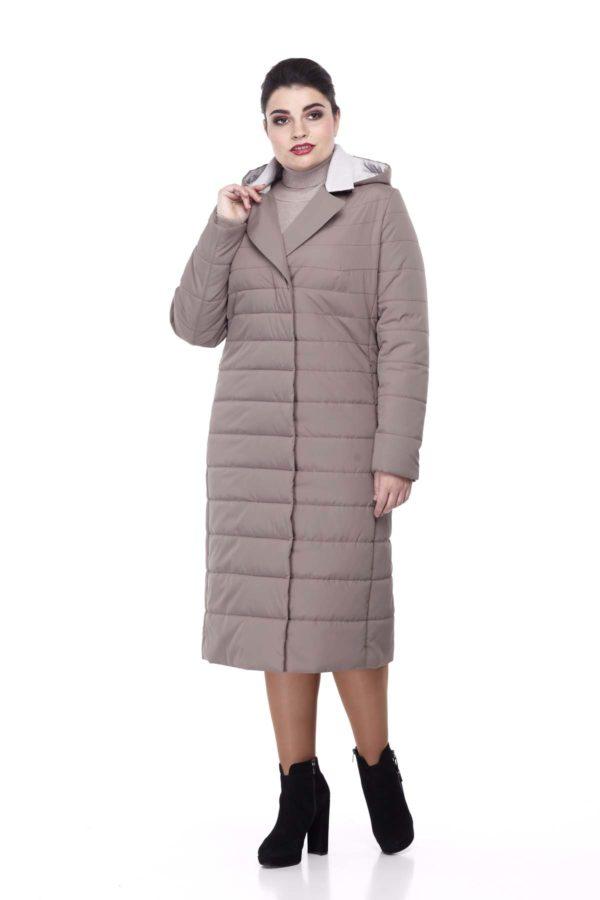 Пальто стьогане Венера, мокко