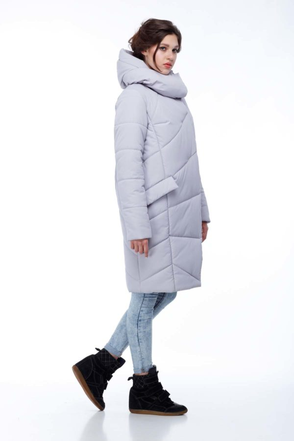 Пальто стеганое Карина лед ammy
