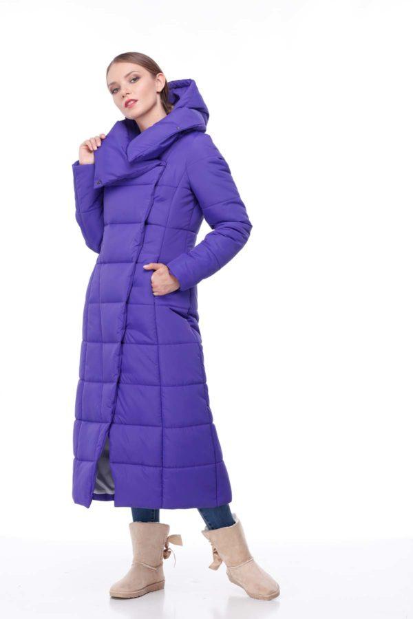 Пальто стеганое Комильфо фиолетовый ammy
