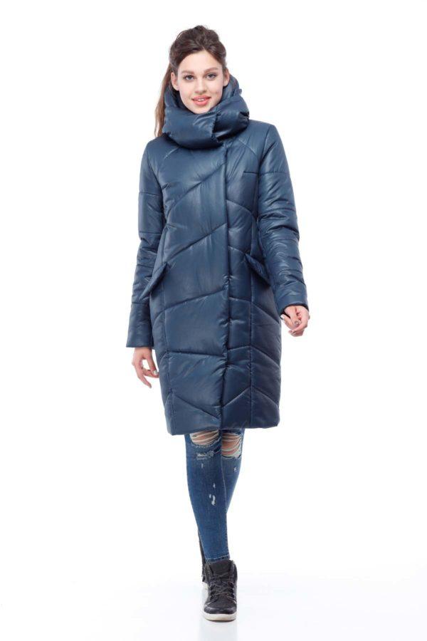 Пальто стеганое Карина бискайский залив соты