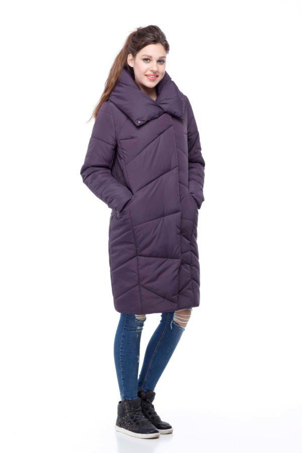 Зимове пальто Каріна, ammy, ful dal, принц амарант