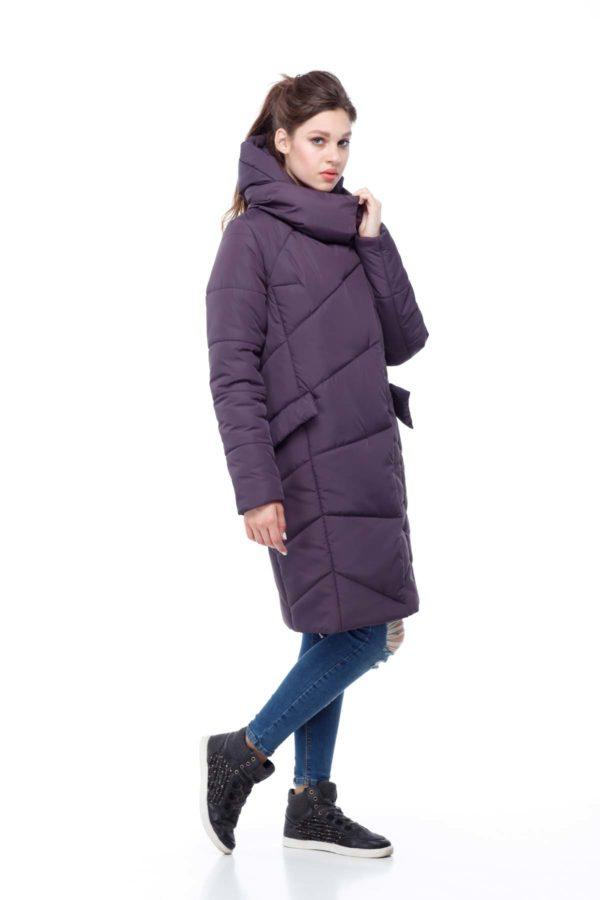 Пальто стеганое Карина амарант ammy