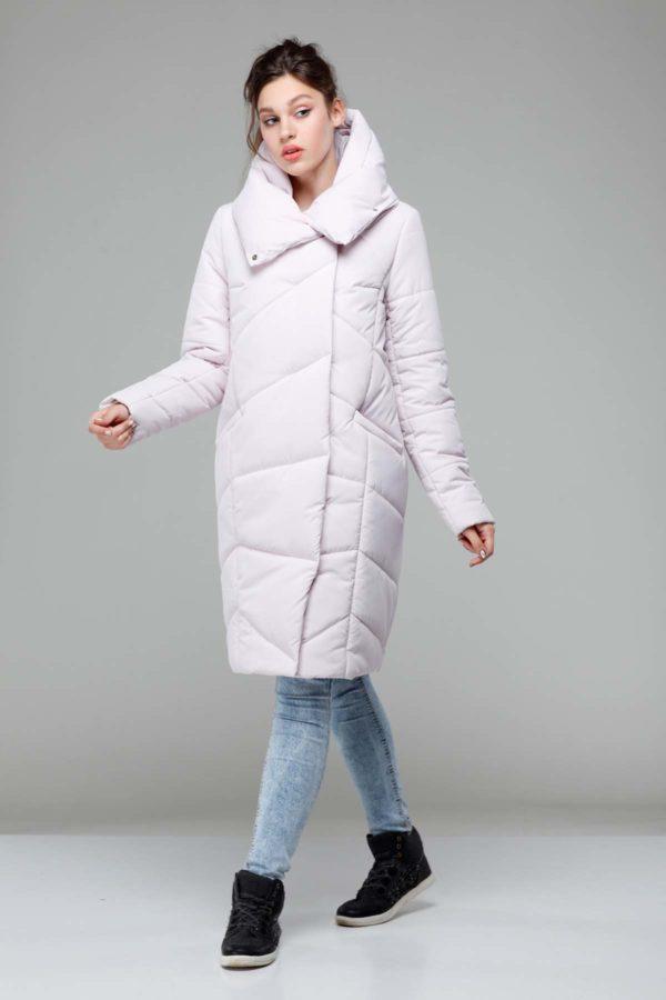 Пальто стеганое Карина св.пудра ammy