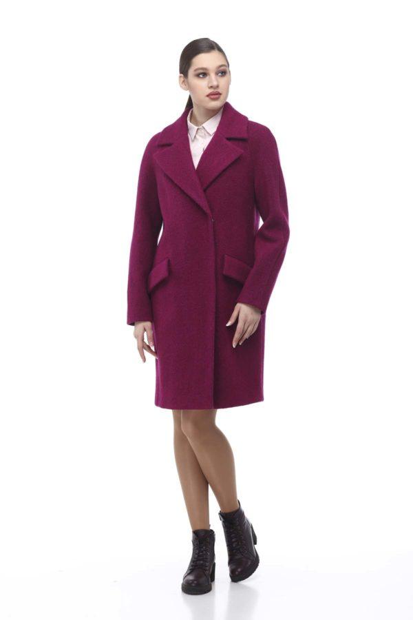 Купить пальто оптом Лора фуксия Баритон