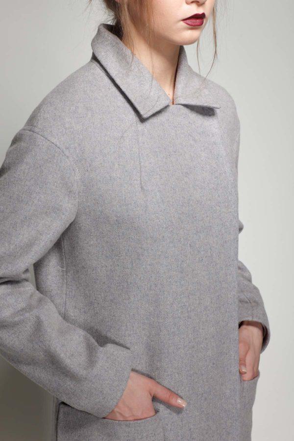 Пальто Кимберли, мелтон розово-фиолетовый