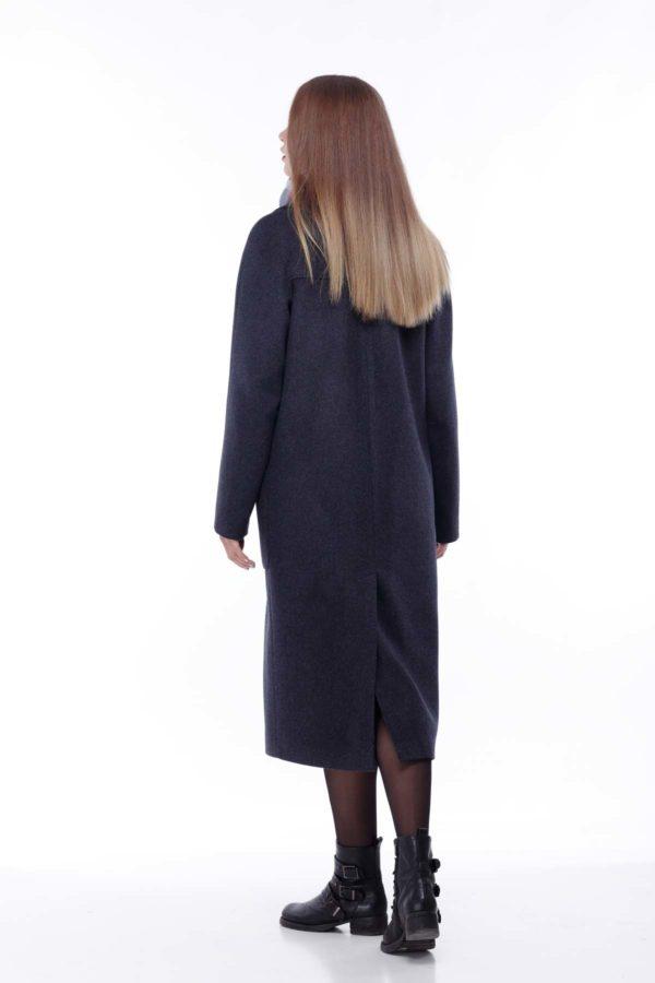 Купить пальто Лучиана темно-синяя Шерсть Турция