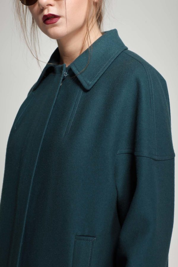 Купить пальто ненси Melton бискайский залив