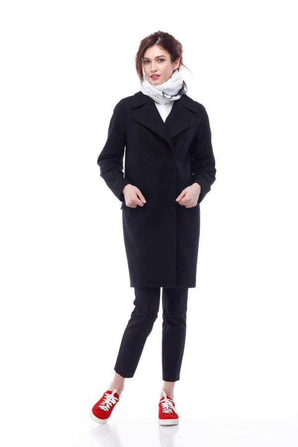 Купить пальто Melton Лора черный