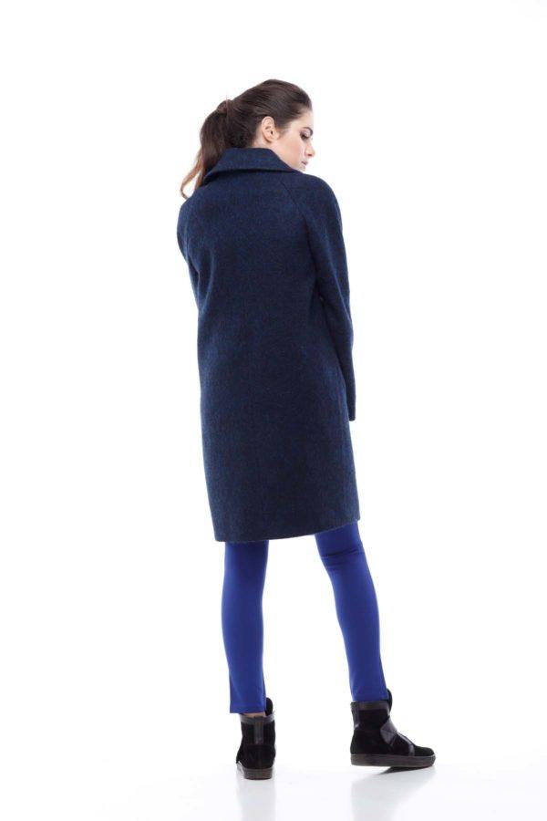 Пальто Лора, вовна ворсова Італія темно-синій