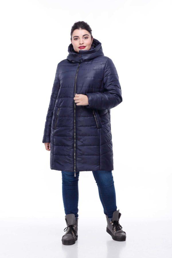 Зимова куртка Веста Зима, мілітарі (великий розмір), темно-синій