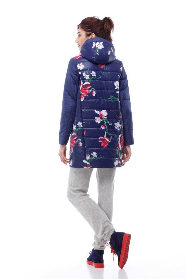 Весенняя Куртка Веста василек принт цветы ammy