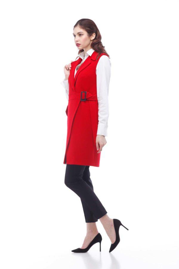 Пальто, melton, червоний