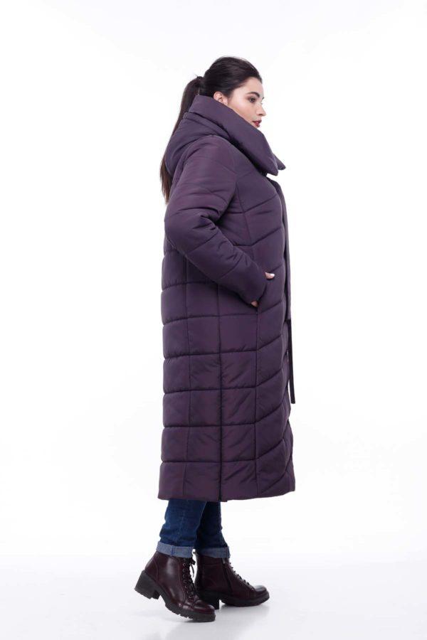 Стеганное пальто удлиненное ammy Вероника амарант