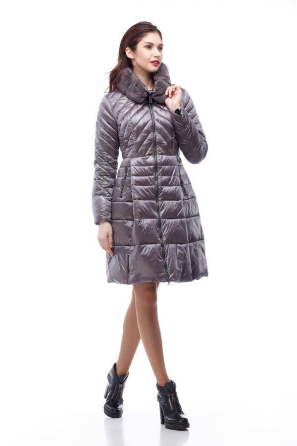 Пальто стеганное Аврора Зима Аметист