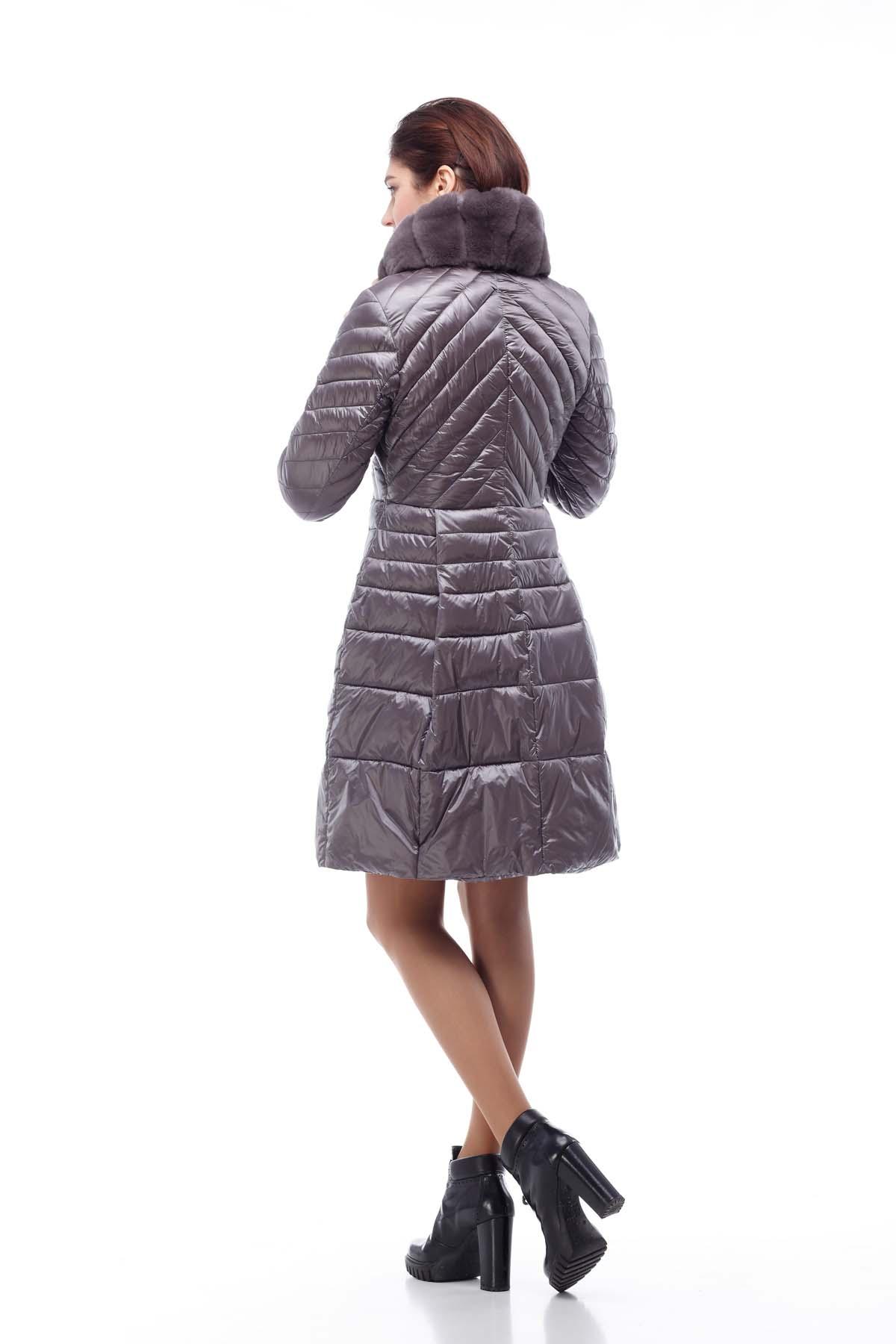 Пальто стьогане Аврора Зима Аметист