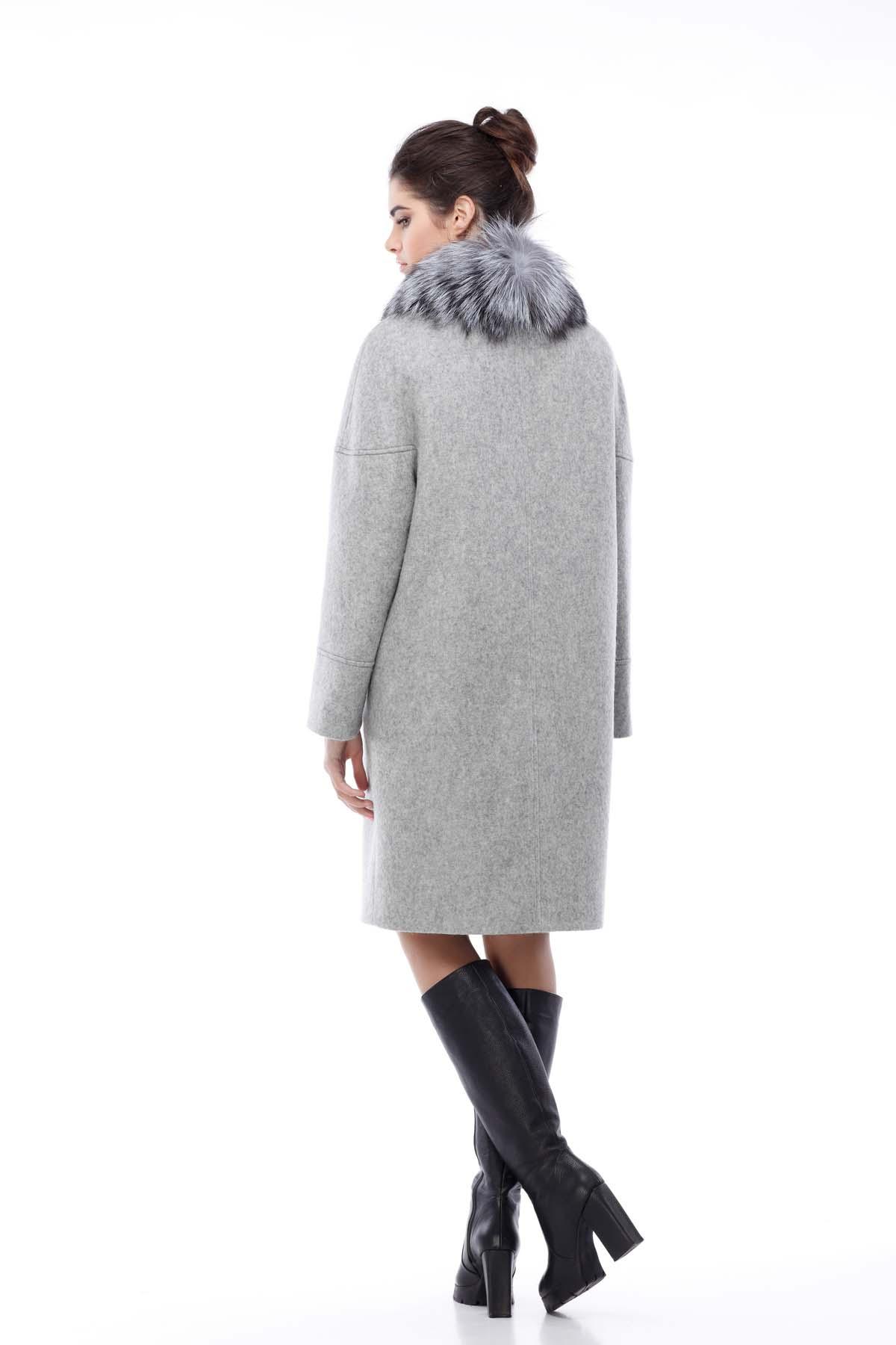 Зимове пальто Доменіка утепл. світло-сірий