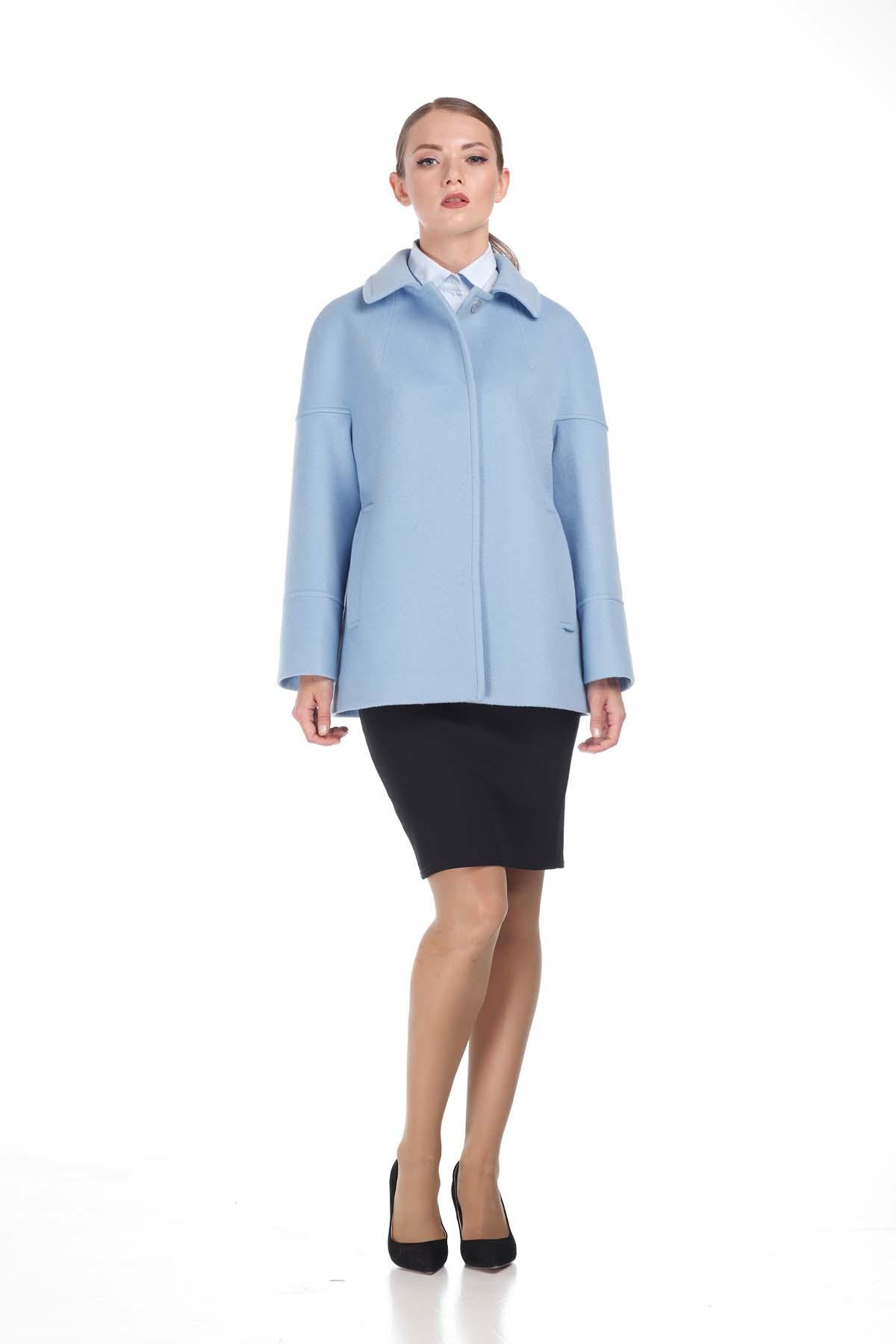 Пальто Ненсі, вовна Італія блакитна