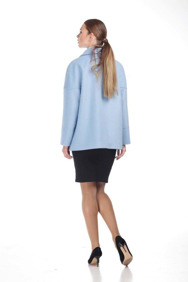 Купить пальто ненси Шерсть Италия голубая