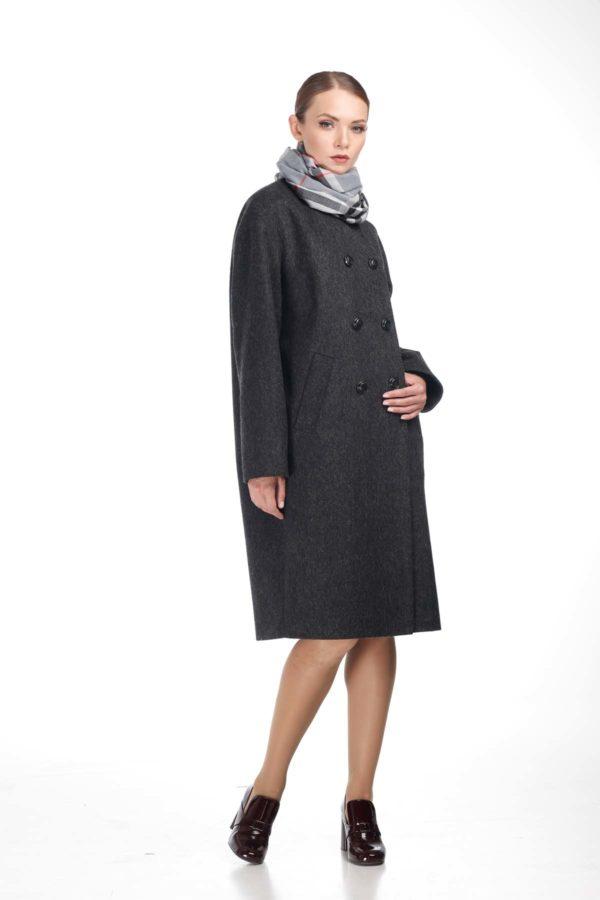 Купить пальто Мирабелла Шерсть Италия темно-серый