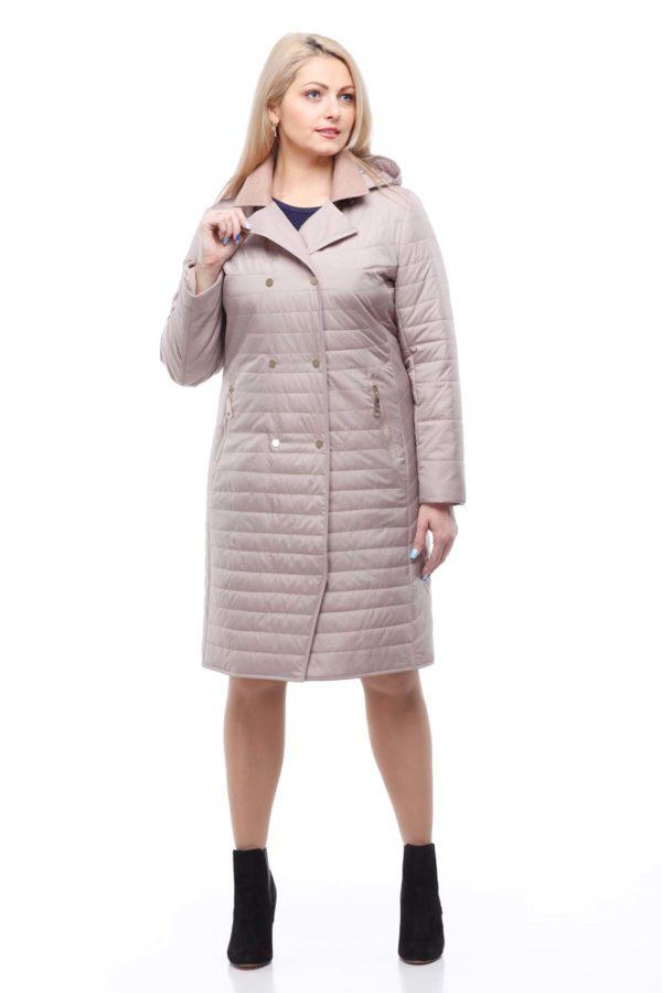 Пальто стеганое Ким, латте