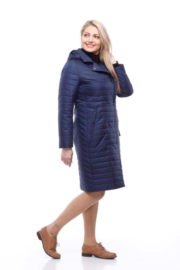 Пальто стеганое Ким, темно-синий
