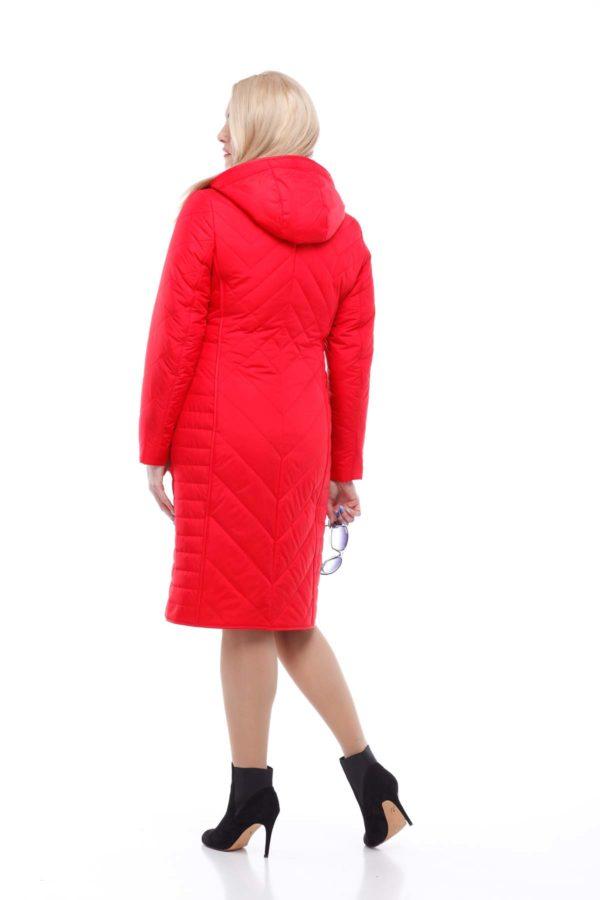 Пальто стьогане Міра яскраво-червоний