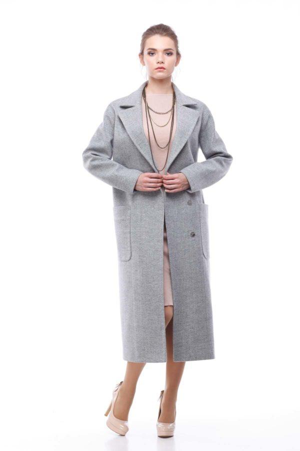 Пальто Кимберли, шерсть Италия светло-серый