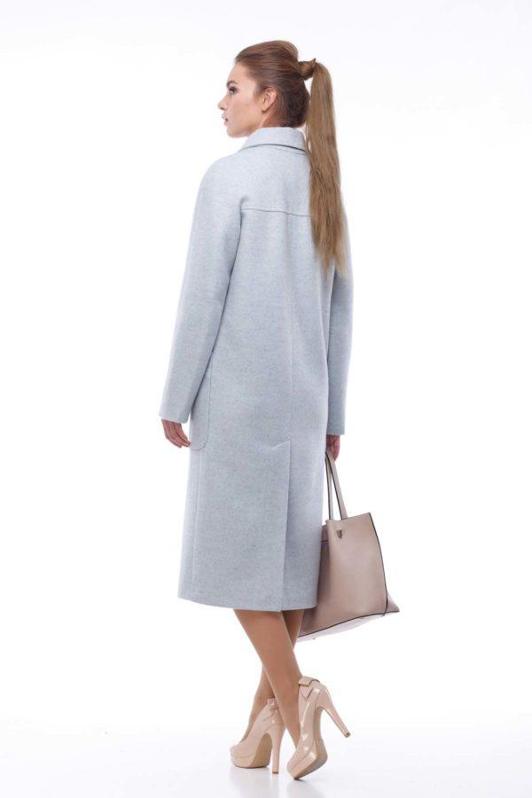 Купить оптом пальто Nick Лучиана серо-голубой
