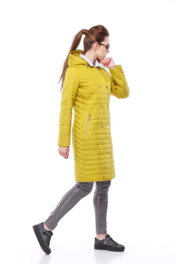 Пальто стеганое Ким, лайм