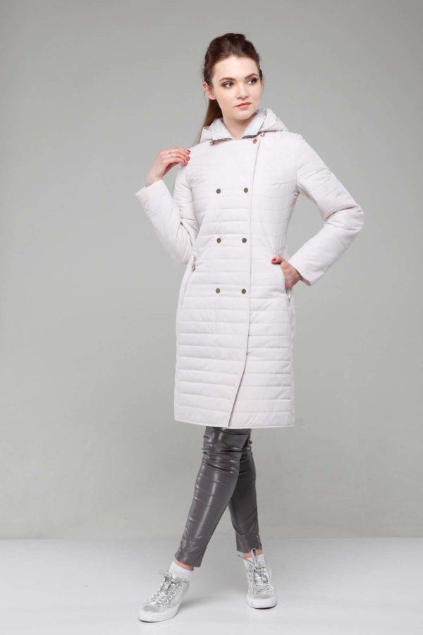 Пальто стеганое Ким, пломбирный