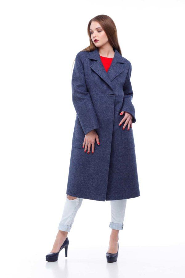 Nick Купить пальто оптом Лучиана темный джинс