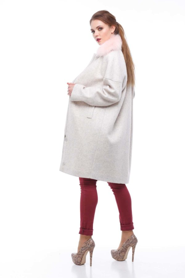 Зимнее пальто Доменика утепл., зефирный