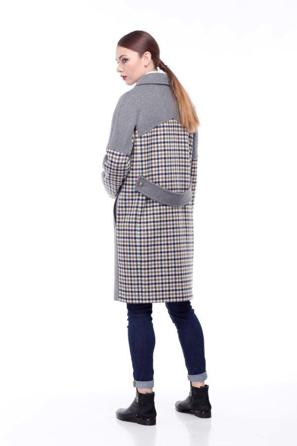 Пальто Монреаль серый клетка