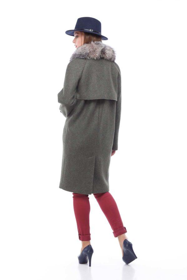 Зимние пальто Фелиция шерсть италия хаки