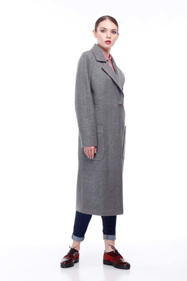Nick Купить пальто оптом Лучиана серый