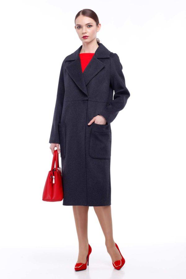 Nick Купить пальто оптом Лучиана темно-серая