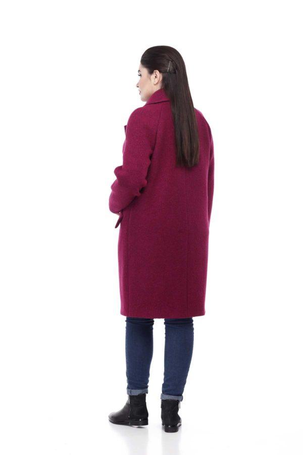 Купити пальто великого розміру Лора фуксія