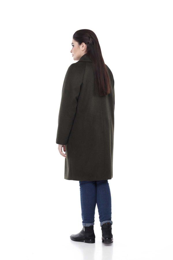 Пальто великого розміру Лора Шерсть Туреччина Хакі