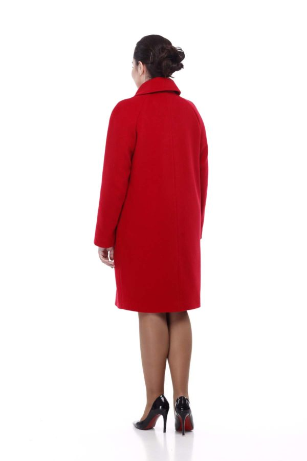 Купить Пальто Melton Лора красный