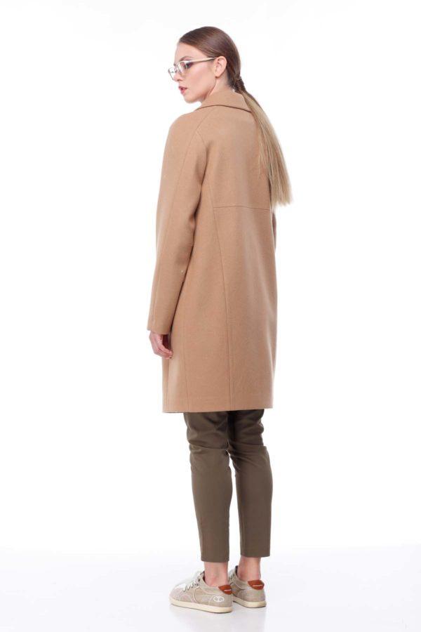 Пальто Джоли, мелтон, camel