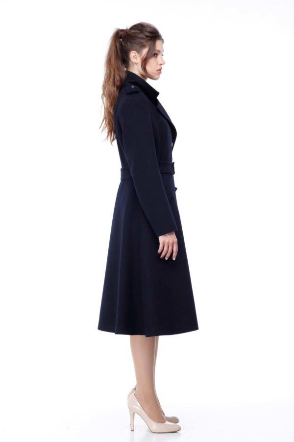 Пальто Шерсть Турция Жасминка темно-синий