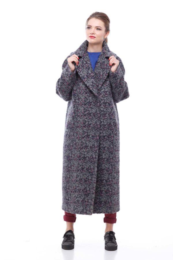 Купити пальто Ніколетта Буклі сіро-бузковий