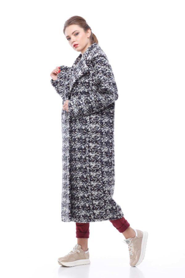 Купити пальто Ніколетта сіро-коричневий букле