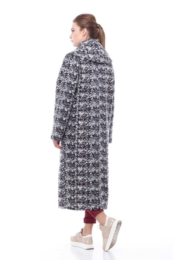 Купить пальто Николетта серо-коричневый букле