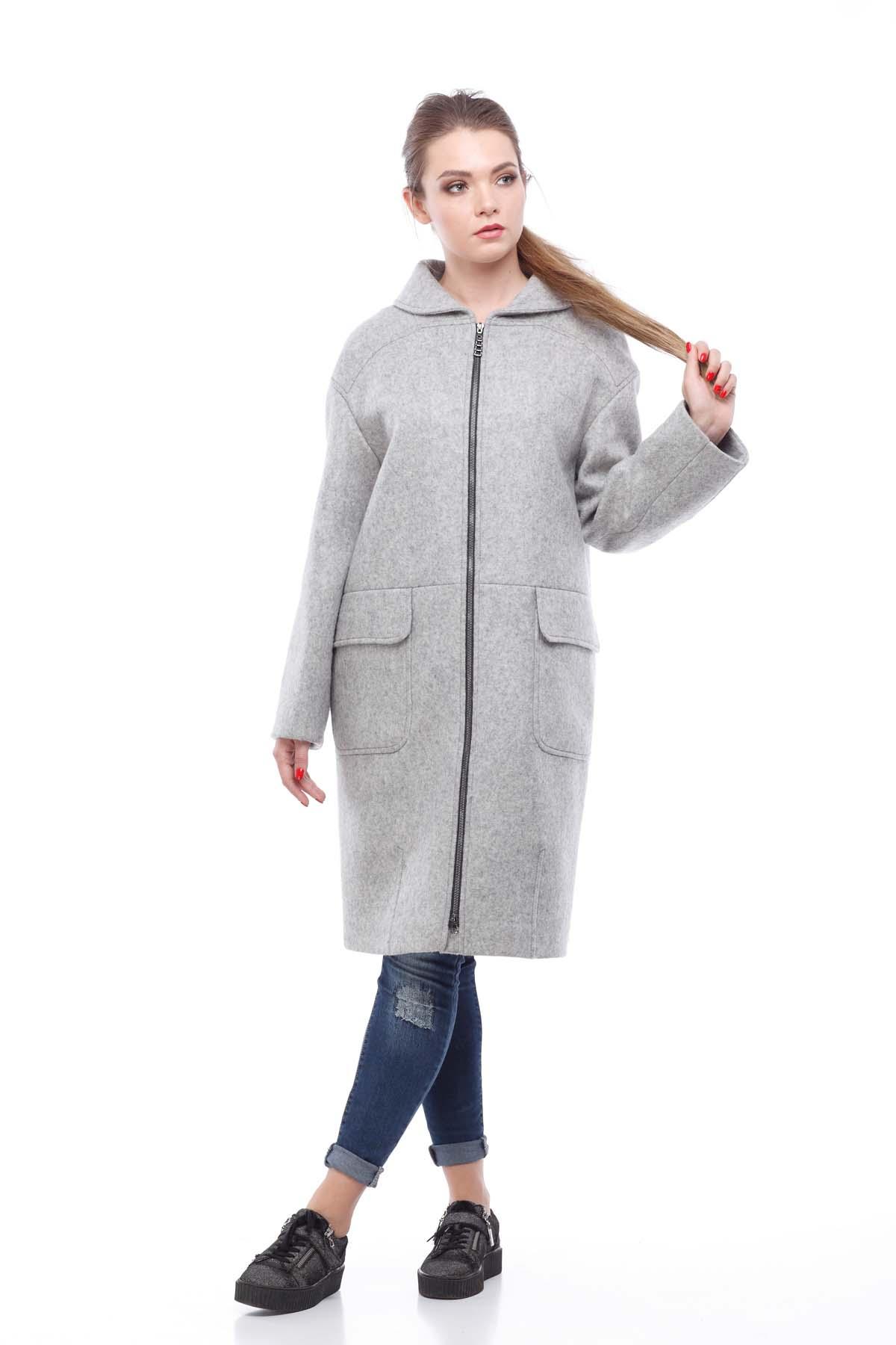 Пальто Аллегра, шерсть Франция, светло-серый