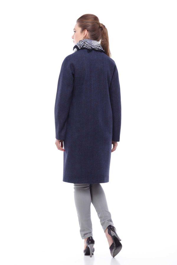 """Пальто Лукреція, вовна """"nick"""" темно-синя"""