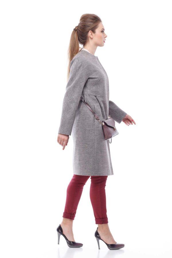 Пальто Nick Лукреция серо-розовое